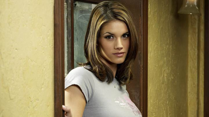 Missy Peregrym In Grey Top Side Pose In Reaper
